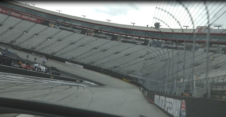 inside the car darrell waltrip Bristol Motor Speedway