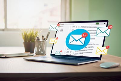 laptop computer email business