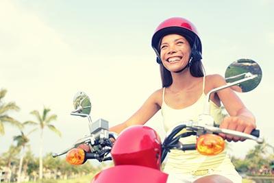 business moped helmet travel