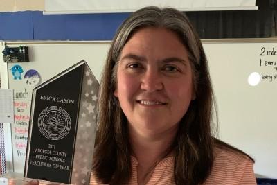 Erica Cason teacher of the year