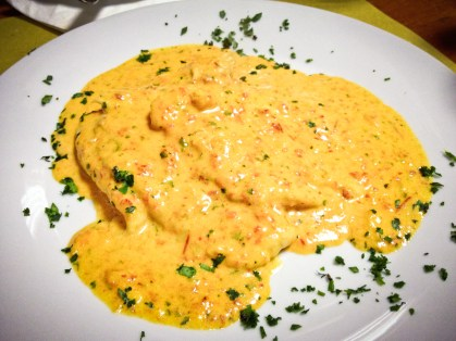 Coco's - scaloppina con crema di peperoni e curry