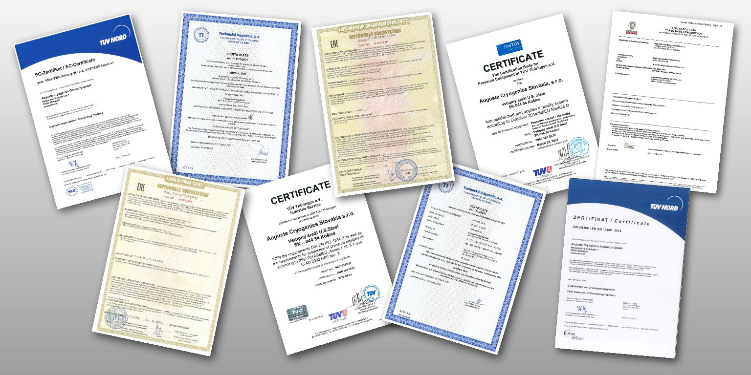 Image of example certificates