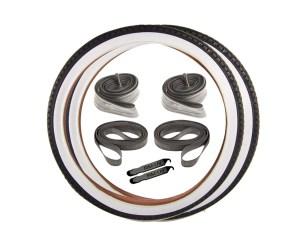 Beach Cruiser White Sidewall Tires