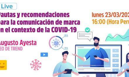 Coronavirus: recomendaciones para la comunicación de marca durante la crisis