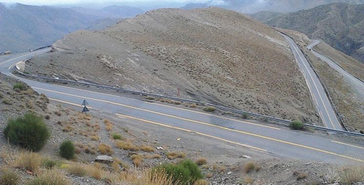 Eboulement rocheux sur la RN9 entre Taddart et Tichka : Libération de la circulation en alternance dans les deux sens