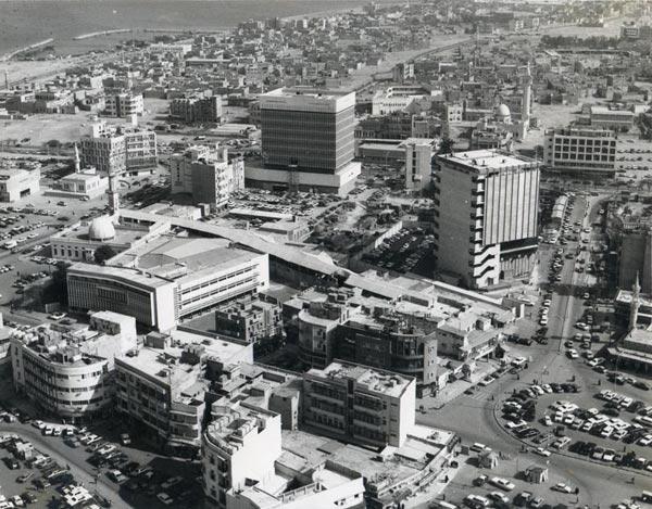Old Modern Kuwait City Aerial