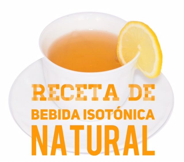 Receta de bebida isotónica natural