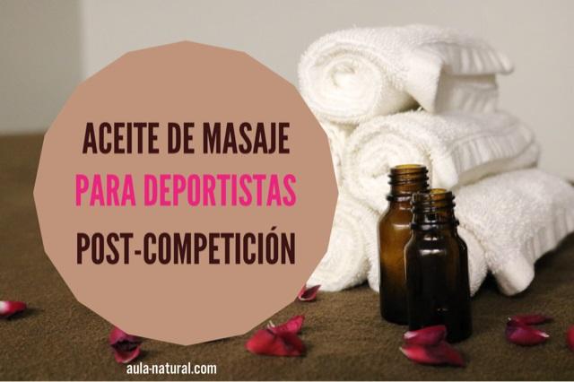 Cosmética natural para deportistas: aceite de masaje post-competición