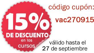 Ahorra el 15% en todos nuestros cursos!