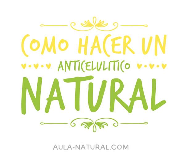 Cómo hacer un anticelulítico natural