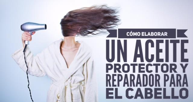 Aceite protector y aceite reparador para el cabello