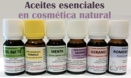 Aceites esenciales en cosmética natural