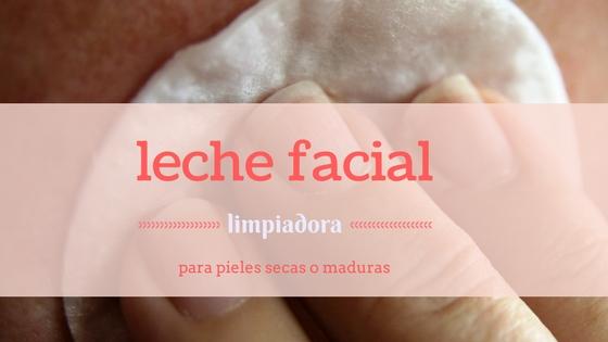 Leche facial limpiadora para pieles secas