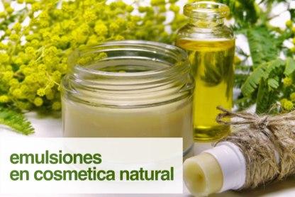 Emulsiones en cosmética natural