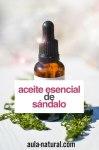 Aceite esencial de sándalo: propiedades y usos