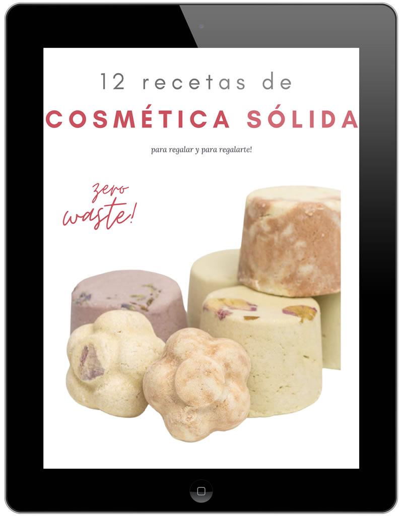 """eBook 12 recetas de cosmética sólida """"zero waste"""""""