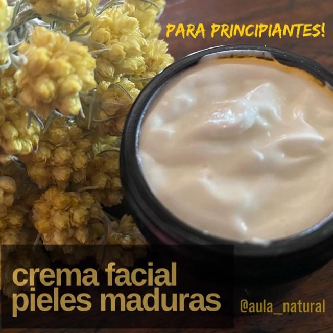 Crema facial para pieles maduras con siemprevivas