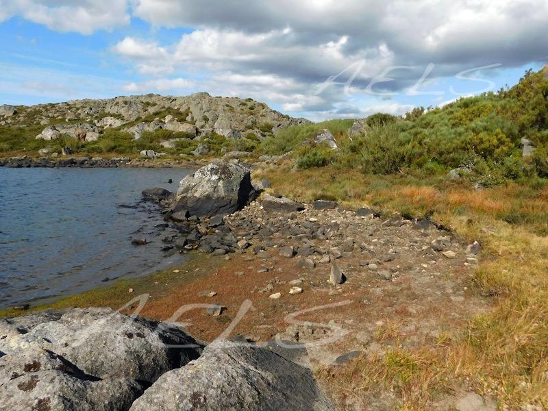 Orillas en estiaje de la laguna de la Roya en septiembre.