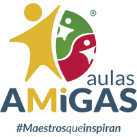 Logo Aulas AMiGAS VERTICAL TRANSPARENTE entrada