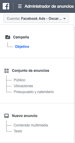 Estructura Campaña de Publicidad en Facebook Ads