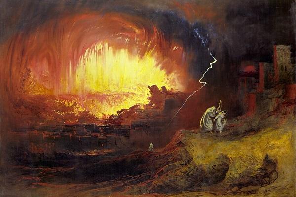 La destrucción de Sodoma y Gomorra (1852) de John Martin
