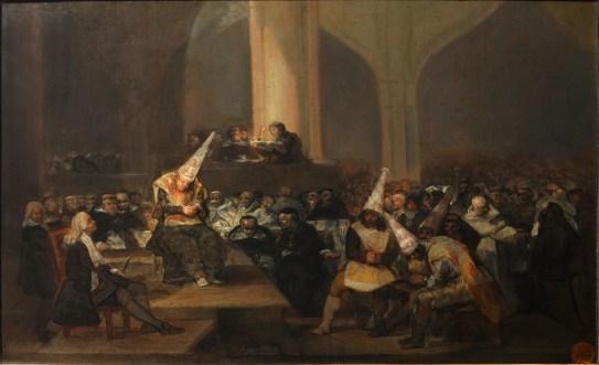 Auto de fe de la Inquisición de Francisco de Goya (1812-1819).