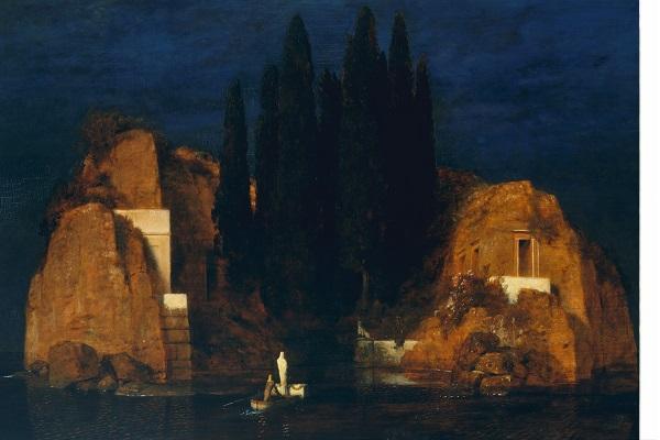 Die toteninsel I (1880) de Arnold Böcklin
