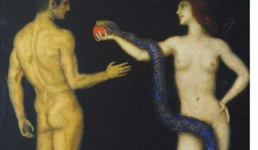 Adam and Eve (1920) by Franz Von Stuck.