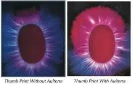infrared thumb prints