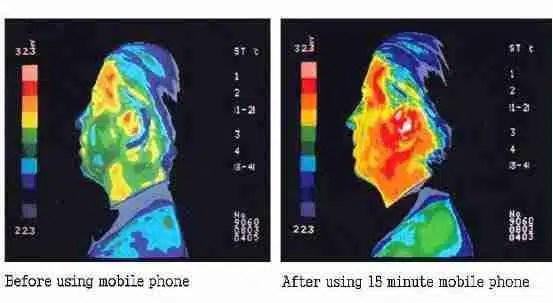 Infrared illustration of mans head