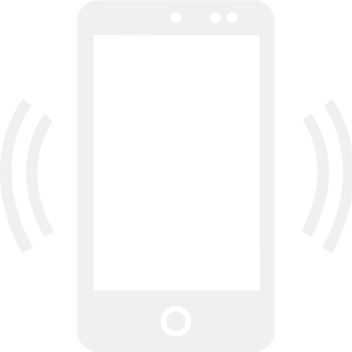 white cell phone frequency icon