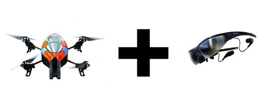 ar-drone y vuzix