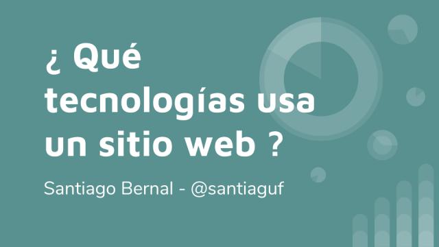 tecnologías usadas por un sitio web