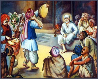 Baba was surrounded by His devotees during day; and slept at night in an old and dilapidated Masjid.