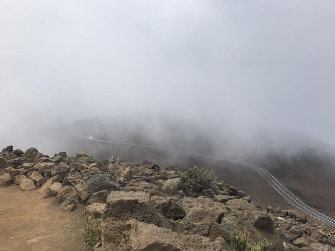 haleakala visitors center road clouds hawaii national park entrance