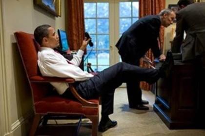 ObamaFeetDeskOvalSlouchedWall