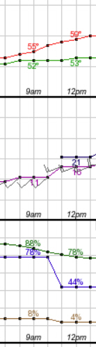Bare to Breakers weather graph