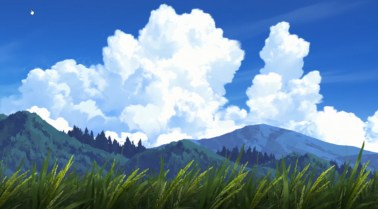Doesn't every anime have towering cumulus in them?