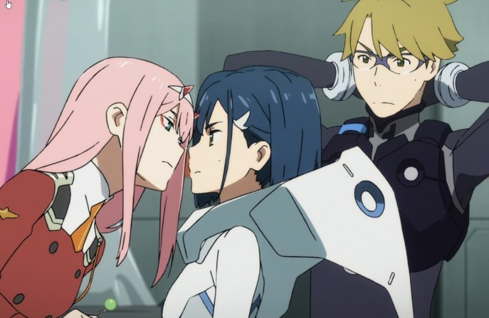 You taste good. (Pretty sure Zero Two is bi.) Goro is jealous.