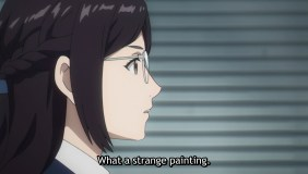 She feels Jin's painting doesn't like people like her.