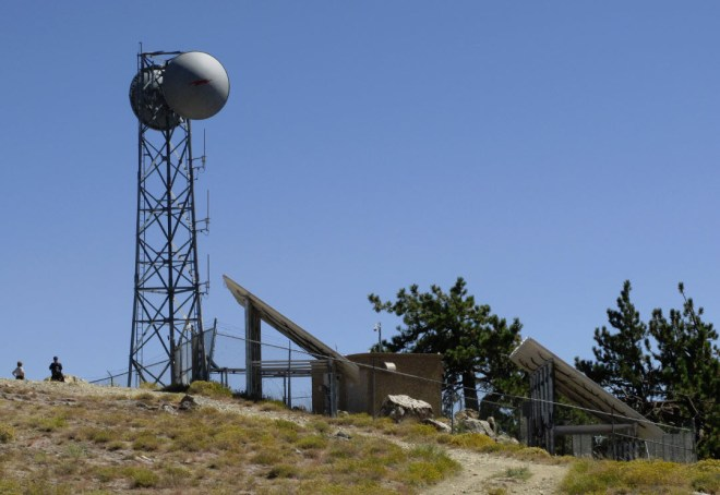 Solar-powered military radio relay station.