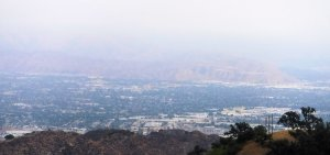 Looking east we see the eastern San Fernando Valley, the Verdugo Hill and in the fer distance the San Gabriel Mountains.