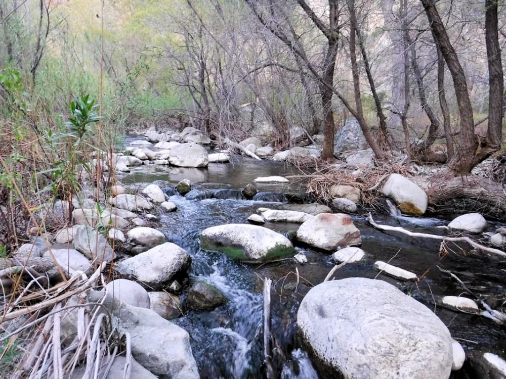 Piru Creek rock hopping