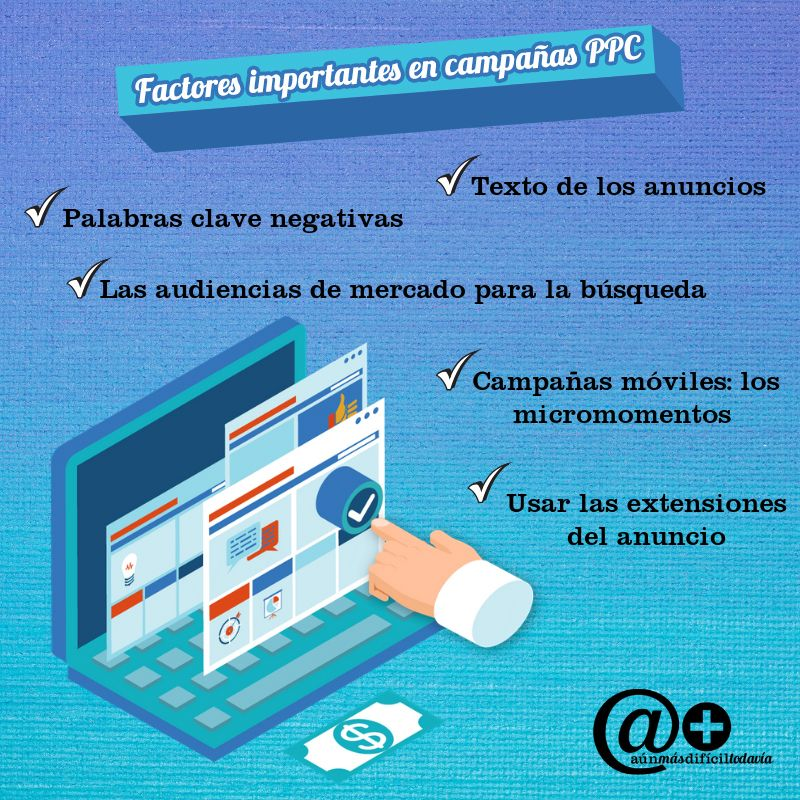 Factores importantes en campañas PPC