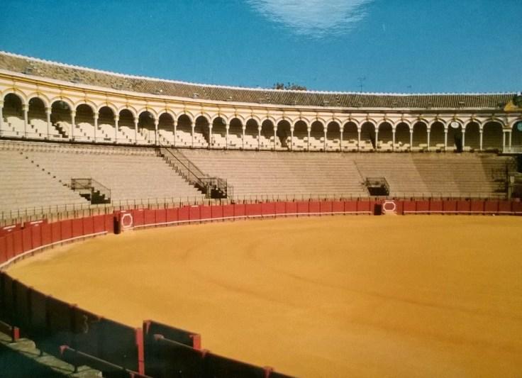 areena, Sevilla, härkätaistelu, Andalucía, Espanja