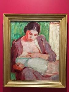 Tyko Sallinen, äiti ja lapsi, taidemaalari, HAM, Helsinki, museot, taidemuseo