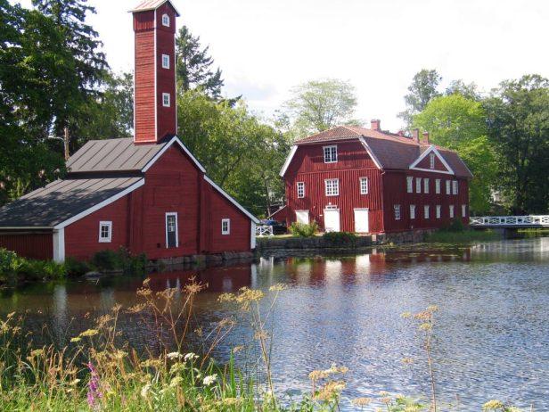 Strömfors, Strömforsin ruukki, luonto, suppailu, Outdoor factory