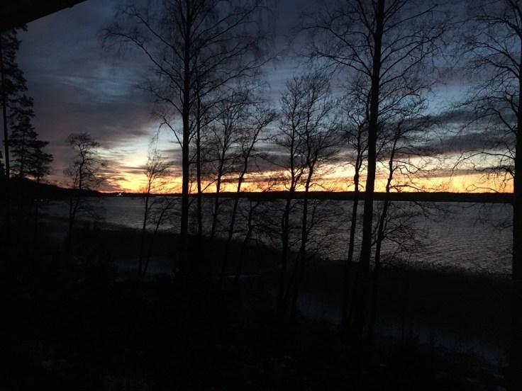 Sininen hetki, Särkisalo, saariston kauneus, talvi, auringonlasku, Ylöstalo, Visit Salo