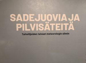 Sadejuovia ja pilvisäteitä, kulttuurijarvenpaa, Järvenpään taidemuseo, museokortti, museot