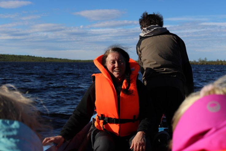 Giellajohka, Anita, Aksujärvi, Lappi, kalastusmatka, lomalla kotimaassa